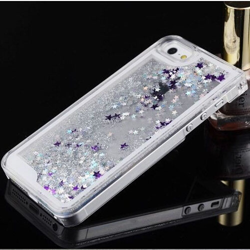 Style Quicksand Glitter Stars Cover Iphone Fashioanl Bling Transparent Hard Back Phone Case Apple 5 5s - GMFIVE International Trade Co. Ltd store