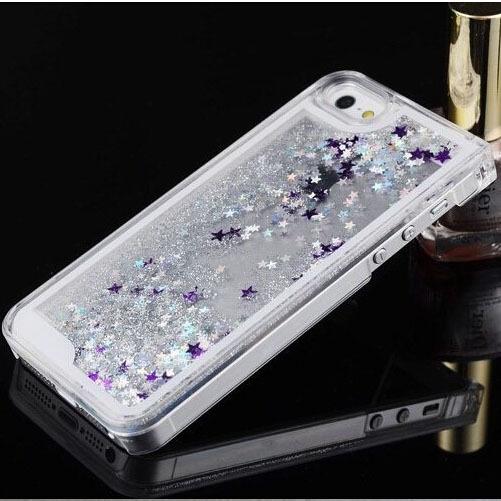 Style Quicksand Glitter Stars Cover Iphone Fashioanl Bling Transparent Hard Back Phone Case Apple 5 5s - GMFIVE International Trade Co. Ltd store