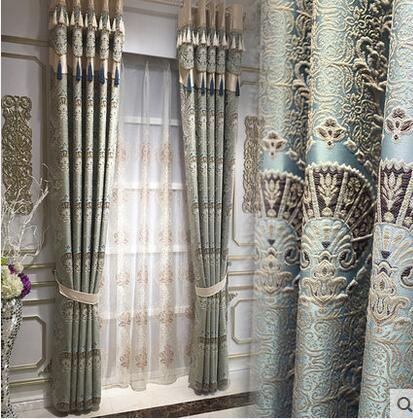 The European style sculpture curtain cloth custom bedroom windows shading products(China (Mainland))