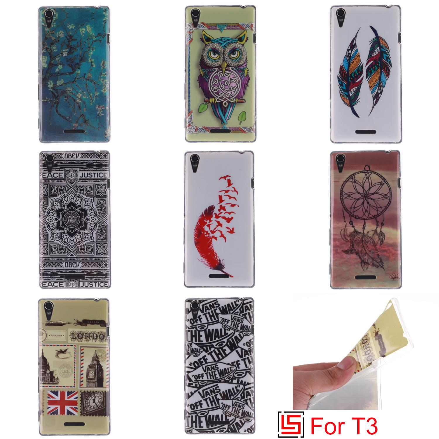 Pretty New Art Ultra Thin TPU Silicone Soft Phone Cell Case shell coque Cover Cove Bag For Sony Soni Xperia Xpera Xperi T3 Owl(China (Mainland))