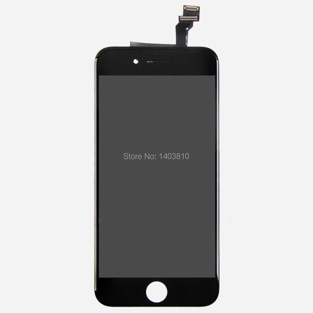 Free shipping OEM 100% Original Black for iPhone 6 4.7 inch Touch Glass Digitizer LCD Display Screen Parts(China (Mainland))