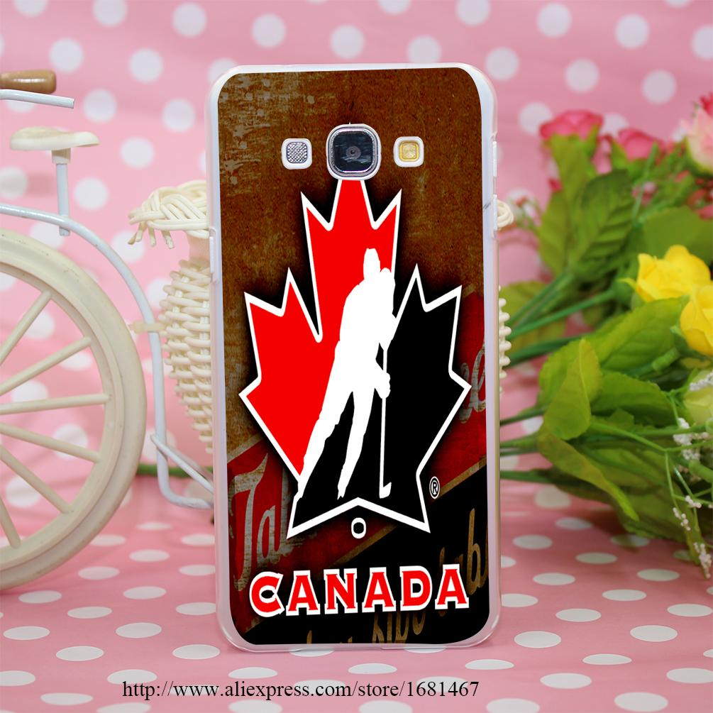 hockey canada Transparent Hard Case Cover for Smasung Galaxy S5 Mini A3 A5 A7 A8 Note 2 3 4 5(China (Mainland))