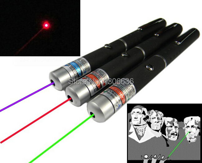 1PCS High Power Powerful Green/Red /Blue Laser Pointer Pen Beam Light 5mW Professional Laser(China (Mainland))