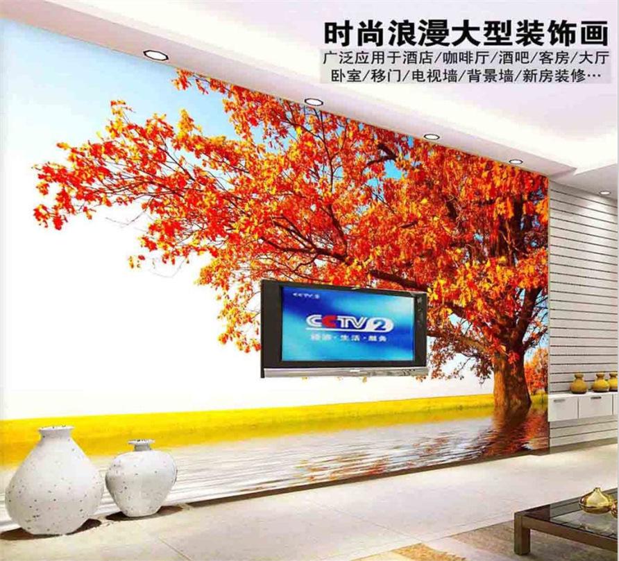 Feuille d 39 rable belle paysage haut de gamme salon tv fond for Ecran pc haut de gamme
