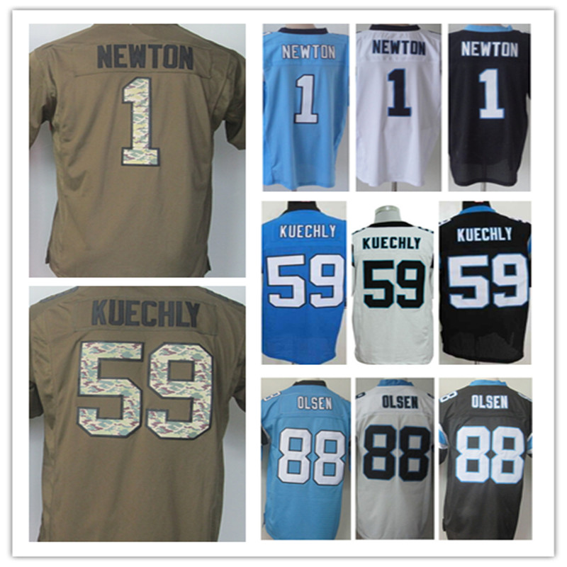 Cheap Wholesale Men's 1 Cam Newton Jersey Elite 59 Luke Kuechly Jersey,Best quality,Authentic Jersey Size:M L XL XXL XXXL(China (Mainland))