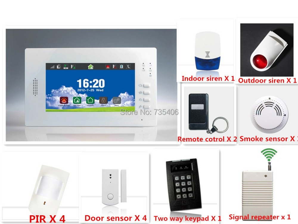 868Mhz Better signal GSM Smart Home Security Alarm System With App Remote Arm Disarm Alarm Panel