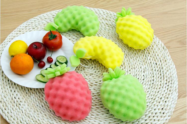 Kawaii Fruit Creative Cleaning Washing Melamine Magic Sponge Kitchen Tool Accessories(China (Mainland))
