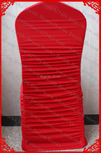 NO.2 Cherry Red Ruffled Spandex Chair Cover/Lycra Chair Covers/Sash With Lycra Band For Wedding Party Banquet Home Decorations(China (Mainland))