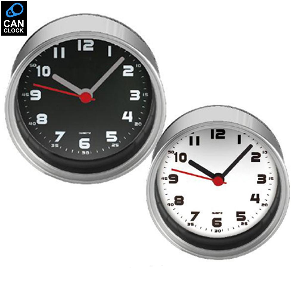 CANCLOCK EPacket Digital Metal White Table Clocks Desktop Tin Analog Round Clocks Magnet in Kitchen Wall Clocks(China (Mainland))