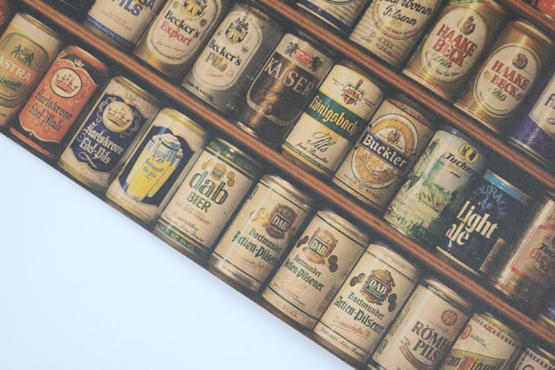 Beer Collection Bars Kitchen Drawings posters adornment Vintage Poster Retro Kraft Paper Wall Stickers Free Shipping