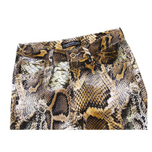 2016 New Mens Snakeskin Printed Jeans Slim Fit Skinny Night Club DJ Trousers Pants Slacks For