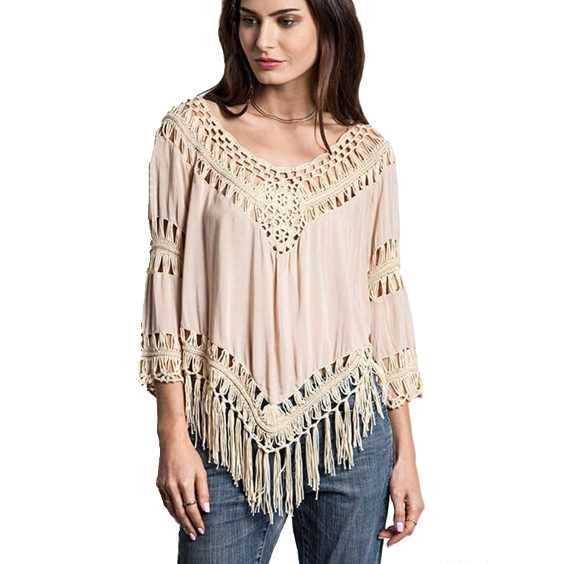 Crochet Blouses Hippie Boho Kimono Summer Tops Cheap ...