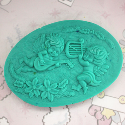 2016 New Angel Chocolate Decorated Soap Mold Fondant Candle Mold Salt Sculpture Silicone Cake Mold Bakeware Cooking Tools SM077(China (Mainland))