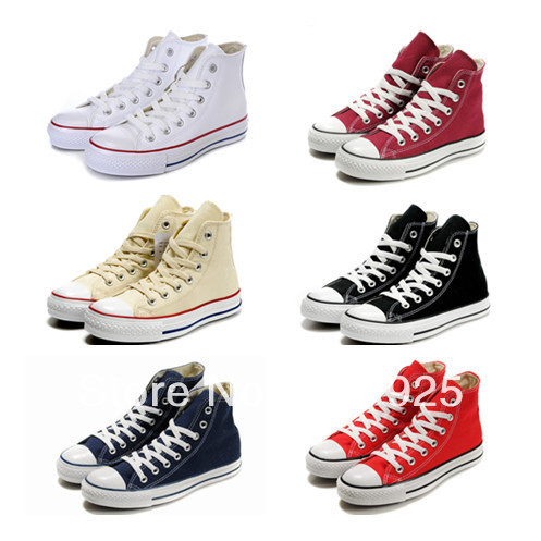 hot sale! 2014 canvas shoes unisex tall style lace-up sneakers sports shoes,running men 9 colors EU35-44 - Aimee Kitty's store