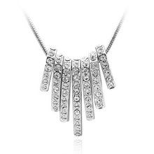High Quality Genuine Crystals from Swarovski Pendants Necklace Women Vintage Costume Jewelry