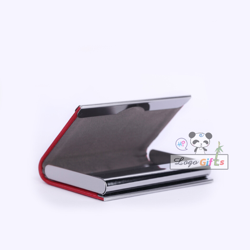 Luxury Leather metal card case business professionals dedicated to custom logo for your company bussiness office supplies(China (Mainland))