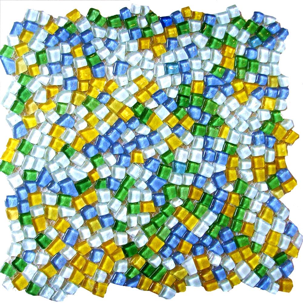 Aliexpress com buy baroque style glass mosaic tiles