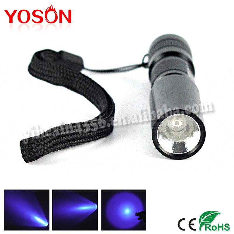 2015 New Black visible LED UV Ultra Violet Flashlight 365nm Torch Light AA Lantern Lanterna,For Hunting(China (Mainland))