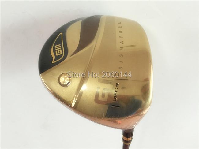 "Brand New GIII Driver Gold GIII Golf Driver GIII Golf Clubs 9""/10"" Degree Regular/Stiff Flex GIII Shaft With Head Cover(China (Mainland))"