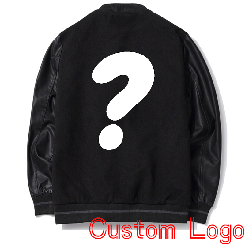 Popular Leather Sleeve Baseball Jacket-Buy Cheap Leather Sleeve ...