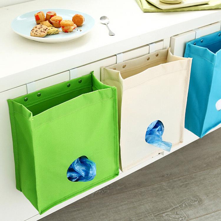 Multipurpose Cupboard Door Back Hanging Type Sundries Bag Linen Kitchen Hanging Bag(China (Mainland))
