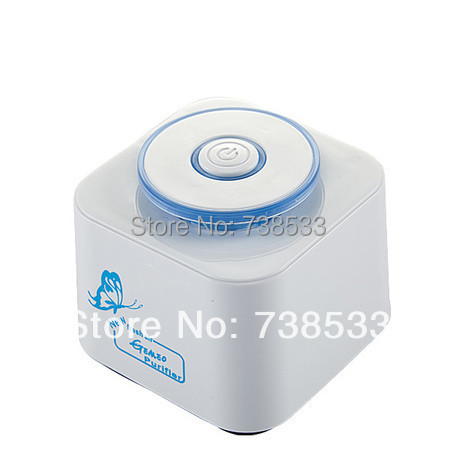 USB Ionizer Mini Air Purifier Home Office DC 5V Negative Ion Generator Activated Carbon Filter Filter Formaldehyde PM2.5