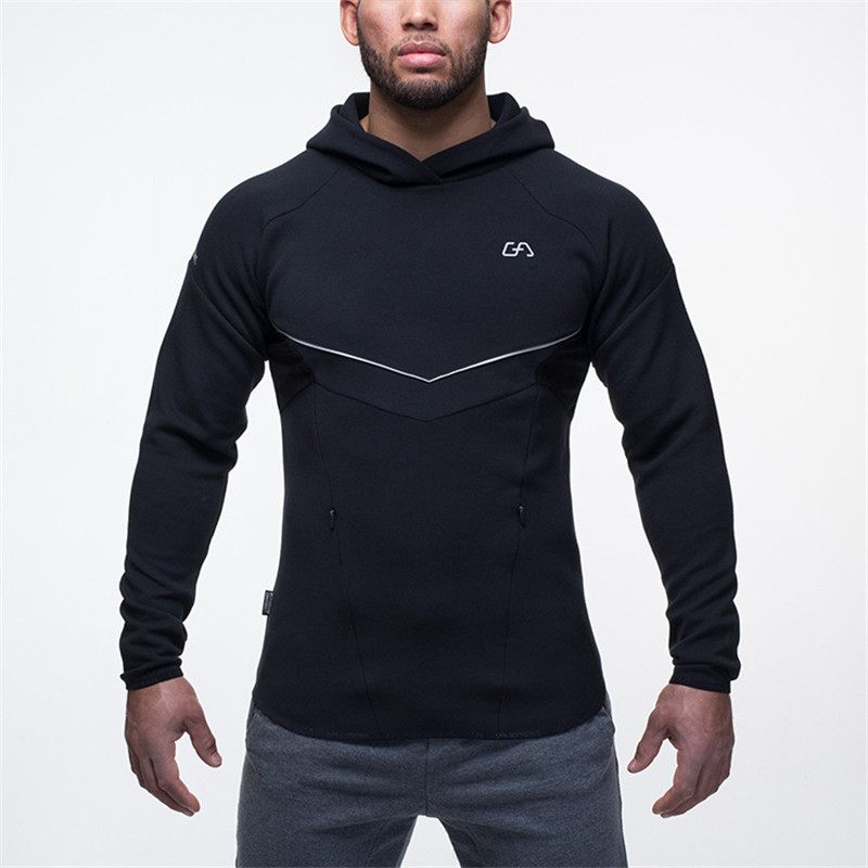 Hot 2016 Fashion Muscle brothers new men hoodies fitness running coat of cultivate one's morality hoodies sweatshirt(China (Mainland))