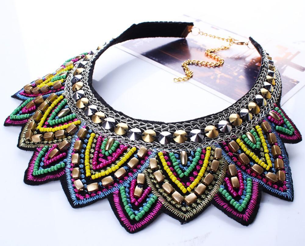 צבעוני חדש אופנה עלה Rhinestone שרף קצר נשים צווארון קולר שרשרת הצהרה תכשיטים N25711