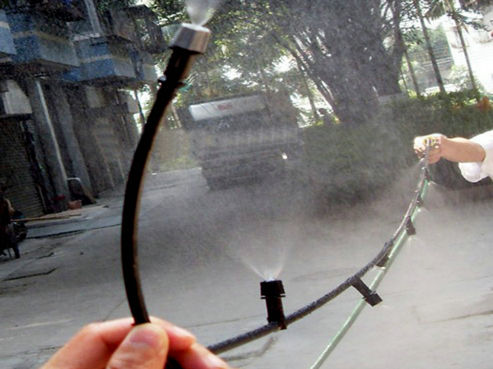 Hot Selling Outdoor Garden 10 Plastic Mist Nozzle Sprinkler Misting Cooling System(China (Mainland))