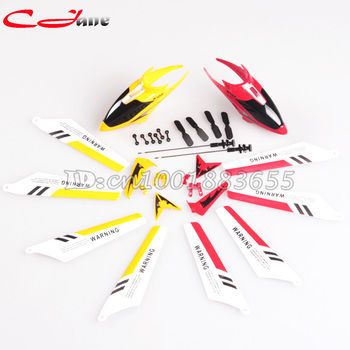 Wholesale SYMA S107G S107 spare parts Head Cover Main Blades Tail decoration Connect Buckle Inner shaft Tail lade Yellow Red