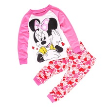 Buy new sleepwear kids girl minnie clothing set baby girl 100% cotton pijama infantil kids pyjama cotton boy clothes 2-7 yrs for $6.48 in AliExpress store