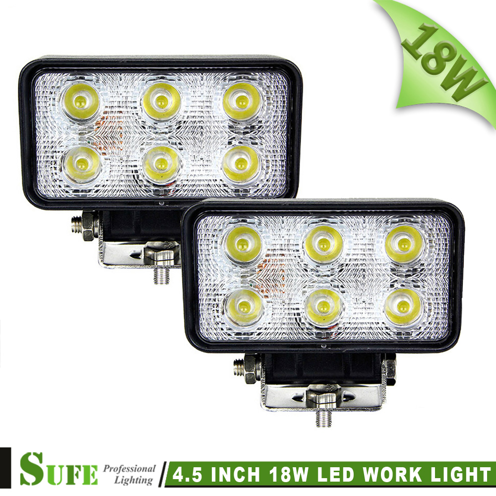 Sale 18w Led Work Light Offroad 4wd Atv Car 4x4 Truck Tractor Bike Motorcycle Flood Spot Driving Fog Lamp - SUFE Autoparts Lighting Co.,Ltd. store