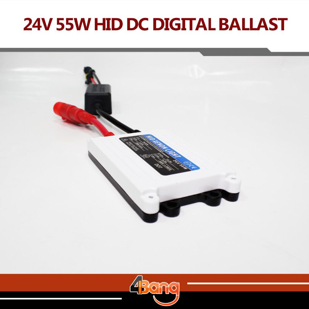 Free shipping 2pcs TOP Quality Good Quality HID xenon slim digital ballast 24V DC 55W hid