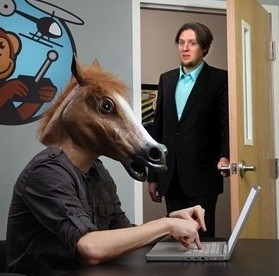 Halloween party Costumes , Creepy Horse Mask Costume cheat wacky props, novelty latex 14980 - Online Store 937927 store