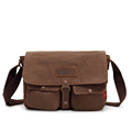 2016 Canvas Leather Women Messenger Bags Men Military Army Vintage Crossbody Bag Casual Shoulder Bag Casual