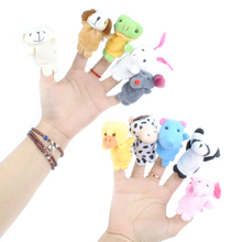 10Pcs Family Finger Puppets Cloth Doll Baby Educational Hand Cartoon Animals Toy 0-12 Monthes -- BYC023 PT15(China (Mainland))