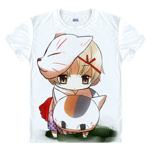 Natsume Takashi T-shirts kawaii Japanese Anime t-shirt Manga Shirt Cute Cartoon Madara cat Cosplay shirts 37706402403 tee 146