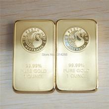 Sample order,3pcs/lot weight about 31gram/pcs Non magnetic 24k gold plated perth mint australia bullion bar,replica gold bar(China (Mainland))