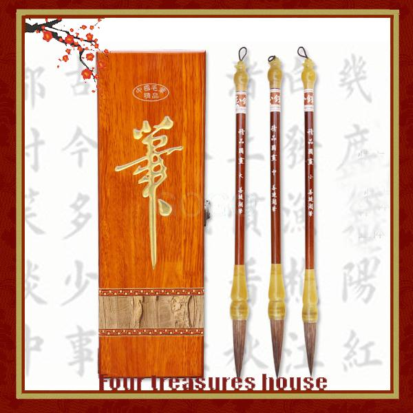 Top grade Calligraphy brush set lake pen fine painting artificial gift box Brushes Set  MB-DX010 free shipping<br><br>Aliexpress