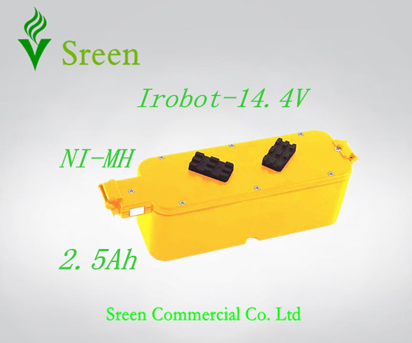 New 14.4V Ni-MH 2.5Ah Replacement Vacuum Rechargeable Battery Packs for iRobot Roomba 400 4905 25247006 4232 4130 4150 4170 4188(China (Mainland))