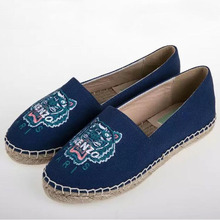 HOT SELLING Fashion woman casual shoes Printing platform Espadrilles shoes luxury leather brands EU 35-40 Fisherman Shoes