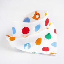 Baberos de bebé impermeable triangular algodón dibujos animados niño Baberos Bandana Babador Dribble Baberos recién nacido Slabber paño absorbente(China)