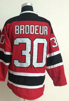 cheap New Martin Brodeur men Jersey authentic New Jersey Devils #30 Martin Brodeur Premier Stitched High quality Ice Hockey Jers(China (Mainland))