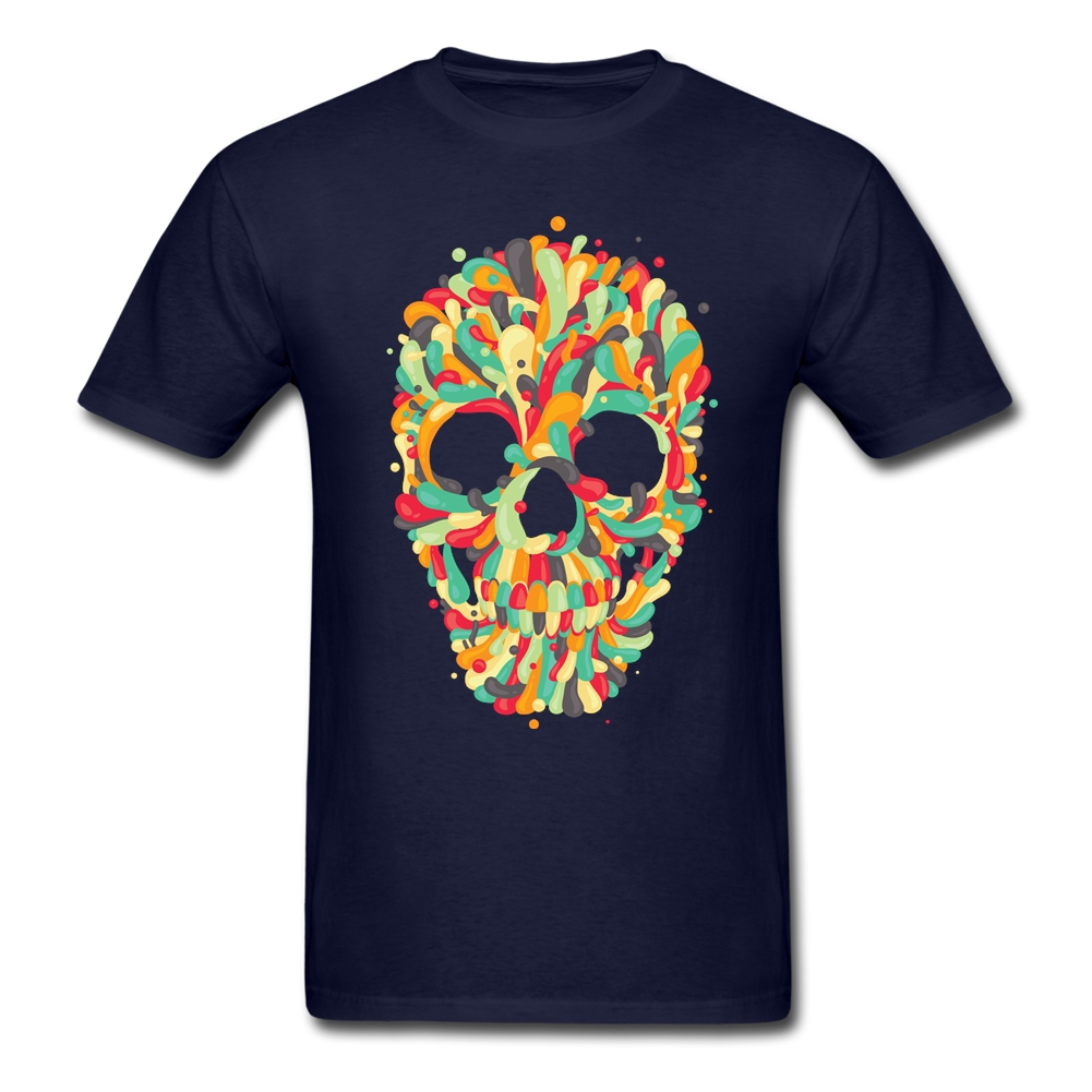 Candy Skull T Shirt Sale Casual T Shirt Male Short Sleeve Valentine's Big Size(China (Mainland))
