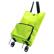 FGGS-Lightweight Foldable Shopping Trolley Wheel Folding Bag Traval Cart Luggage HOT(China (Mainland))