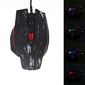 Fashion Gaming Mice Adjustable 2400DPI 6 Buttons Optical USB Wired Gaming Mouse 7 Colors LED Game