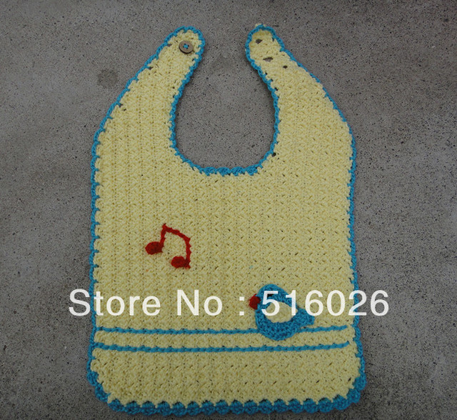 wholesale Handmade Crochet Baby bibs kids aprons Newborn Gift 5pcs/lot