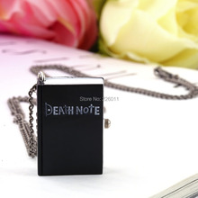 1pcs Vintage Unique Death Note Book Quartz Pocket Watch Pendant Necklace Gift hot sale