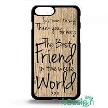 Fit for Samsung Galaxy mini S3/4/5/6/7 edge plus+ Note2/3/4/5 back skins cellphone case cover best friend BFF cute quote gift