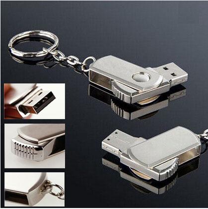 Metal rotary usb flash drive 8gb 16gb 32gb 64gb plate usb flash pen drive stick U Disk(China (Mainland))